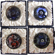 Caithness Glass - Colin Terris & Peter Holmes Abstract Paperweights - The Planets