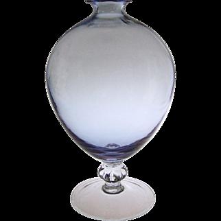 Alexandrite Glass Carcassonne Pedestal Vase