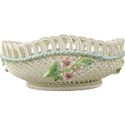 Belleek Woven Porcelain Irish Hawthorne Basket 2733