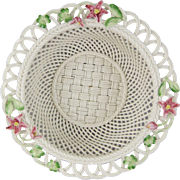 Belleek Woven Porcelain Limited Edition 2006 Rhododendron Basket 3463