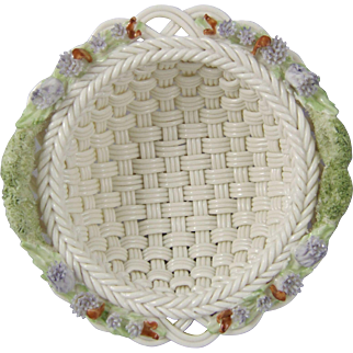 Belleek Woven Porcelain Thistle Basket H40641