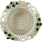 Belleek in Retrospect 2000 -  Woven Porcelain Blackberry Basket