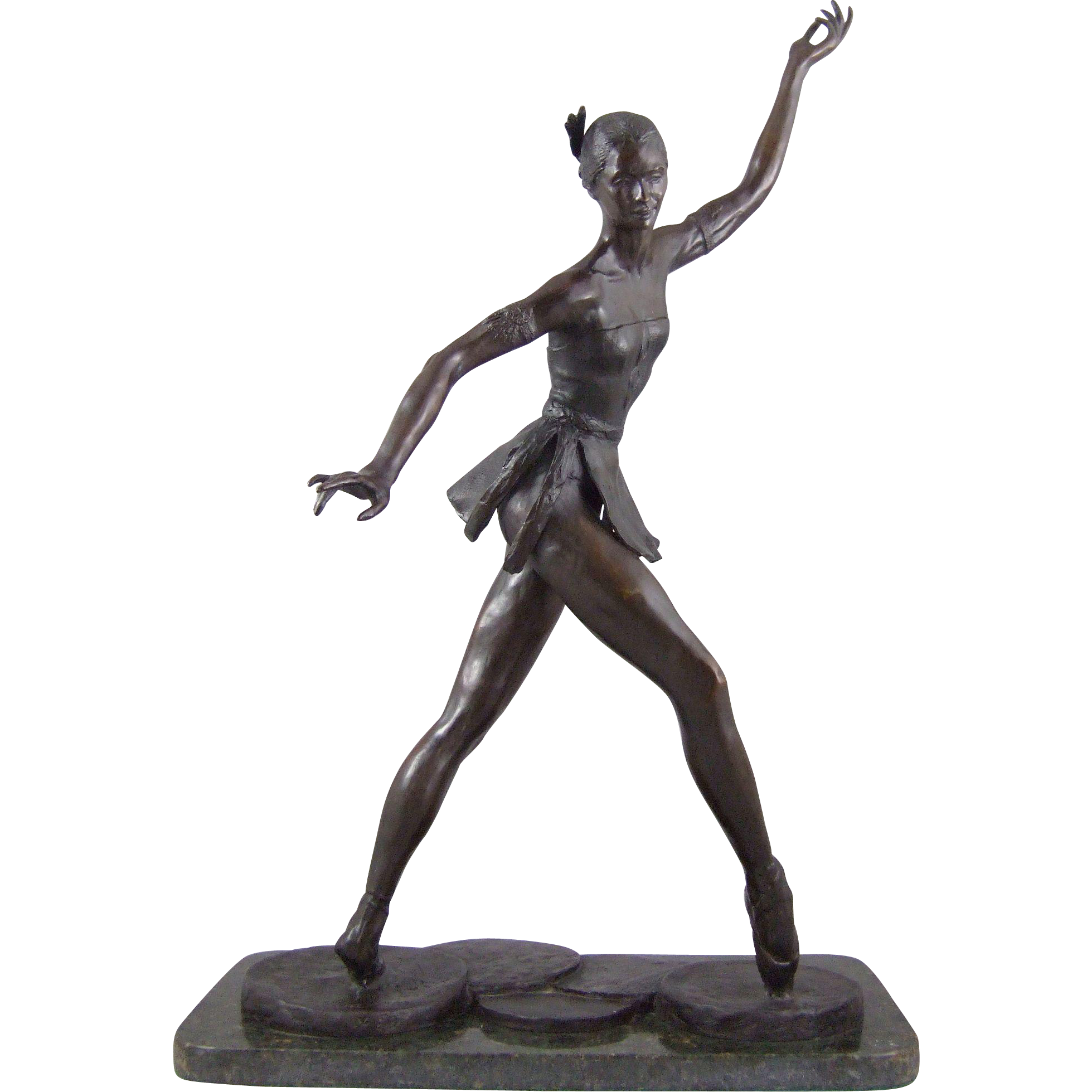 Patinated Bronze Sculpture Oklahoma Indian Ballerina by Jay O'Meilia
