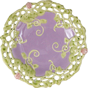 Rudolf Ditmar Znaim Reticulated Majolica Plate