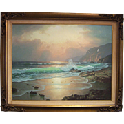 Anton Gutknecht Seascape - California Coast at Sunset Painting on Canvas