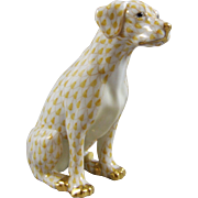Herend Porcelain Yellow Labrador Dog