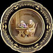 Chateau de Dreux Hand Painted Sevres Porcelain Cabinet Plate