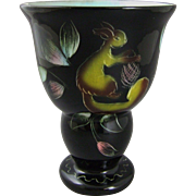 French Art Deco Ceramic Pottery Vase by Monacera Monaco