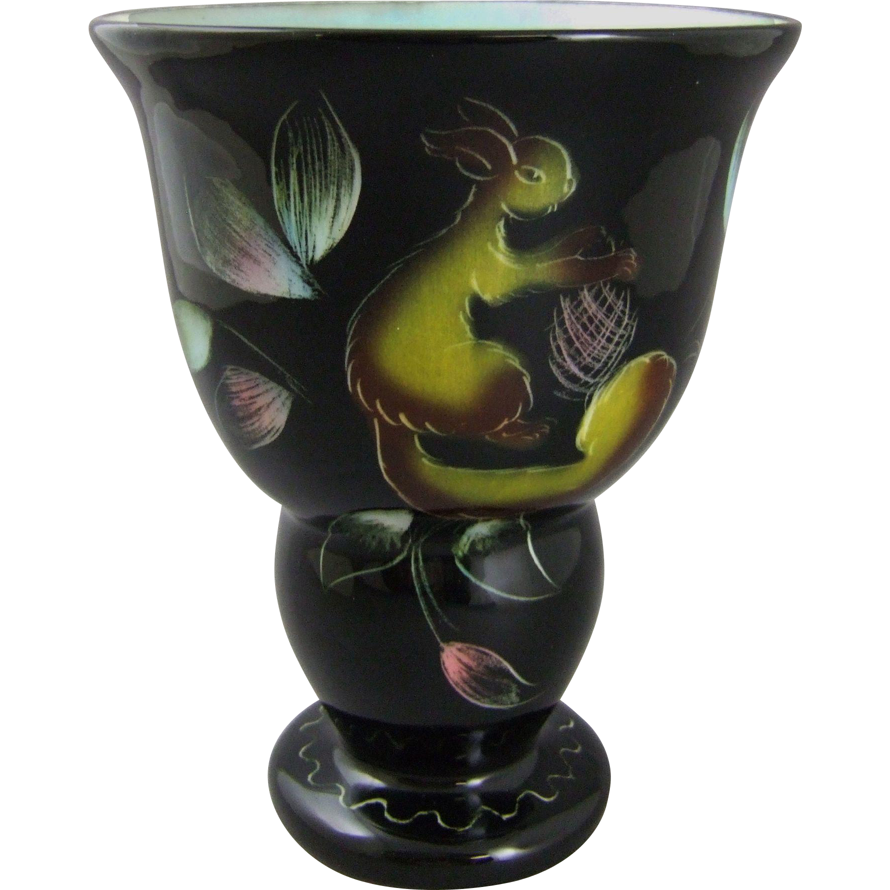 French Art Deco Ceramic Pottery Vase by Monacera Monaco
