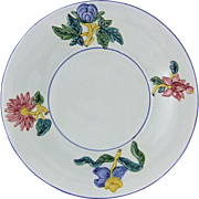 19thC Gien Geoffroy et C French Faience Majolica Charger Plate