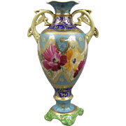 Nippon Antique Porcelain Pedestal Vase