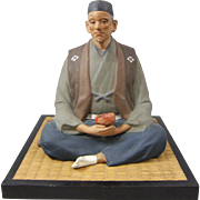 Hakata Urasaki Japanese Figure of a Sitting Man