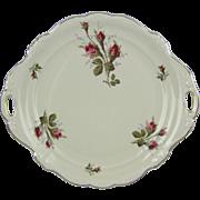 Rosenthal Pompadour Moss Rose Porcelain Cake Dessert Serving Plate