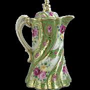 Nippon Porcelain Twisted Flute Chocolate Pot