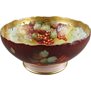 Limoges Porcelain Center Bowl Pickard Artist LeRoy