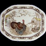 "Johnson Brothers Large 20"" Turkey Platter Barnyard King"