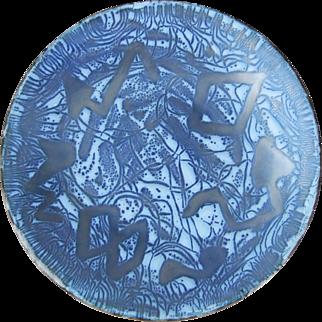 Mid Century Modern Enamel on Copper Plate