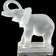 Lalique Elephant Sculpture 11801