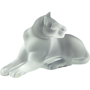 Lalique Crystal Sculpture 11662 Simba Recumbent Lioness