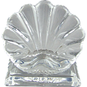 Baccarat Crystal Bambous Shell Menu Holder Place Card Holder