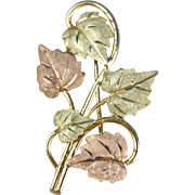 12K Black Hills Gold Brooch