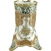 Nippon Porcelain Vase or Brush Holder