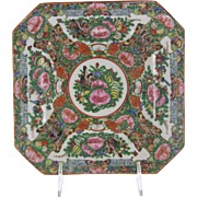 Chinese Porcelain Rose Canton Rose Medallion Plate