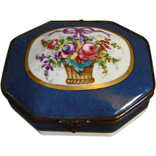 Paris Porcelain Trinket Casket