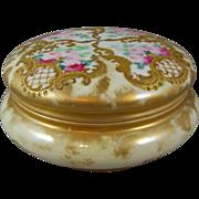 T & V Limoges Porcelain Jewelry Box Tressemanns & Vogt