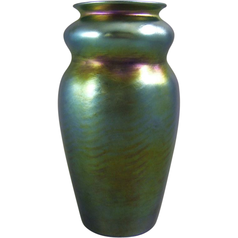 Tiffany Blue Favrile Wave Pattern Double Gourd Vase