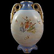 Victoria Bohemian Porcelain Schmidt & Co. Handled Vase