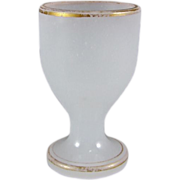 Antique French Opaline Glass Egg Cup