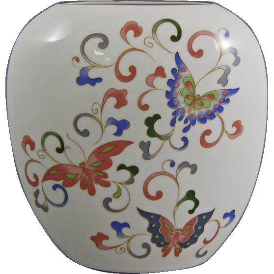 Otagiri Porcelain Papillon Butterfly Pillow Vase