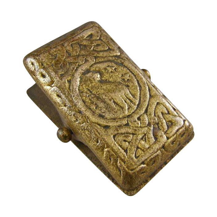 Tiffany Studios New York Gold Dore Bronze Letter Clip 1080