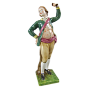 Porcelain Figure of an Eighteenth Century Provincial Dancing Man