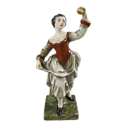 Antique Porcelain Figure of an Eighteenth Century Lady with Castanets