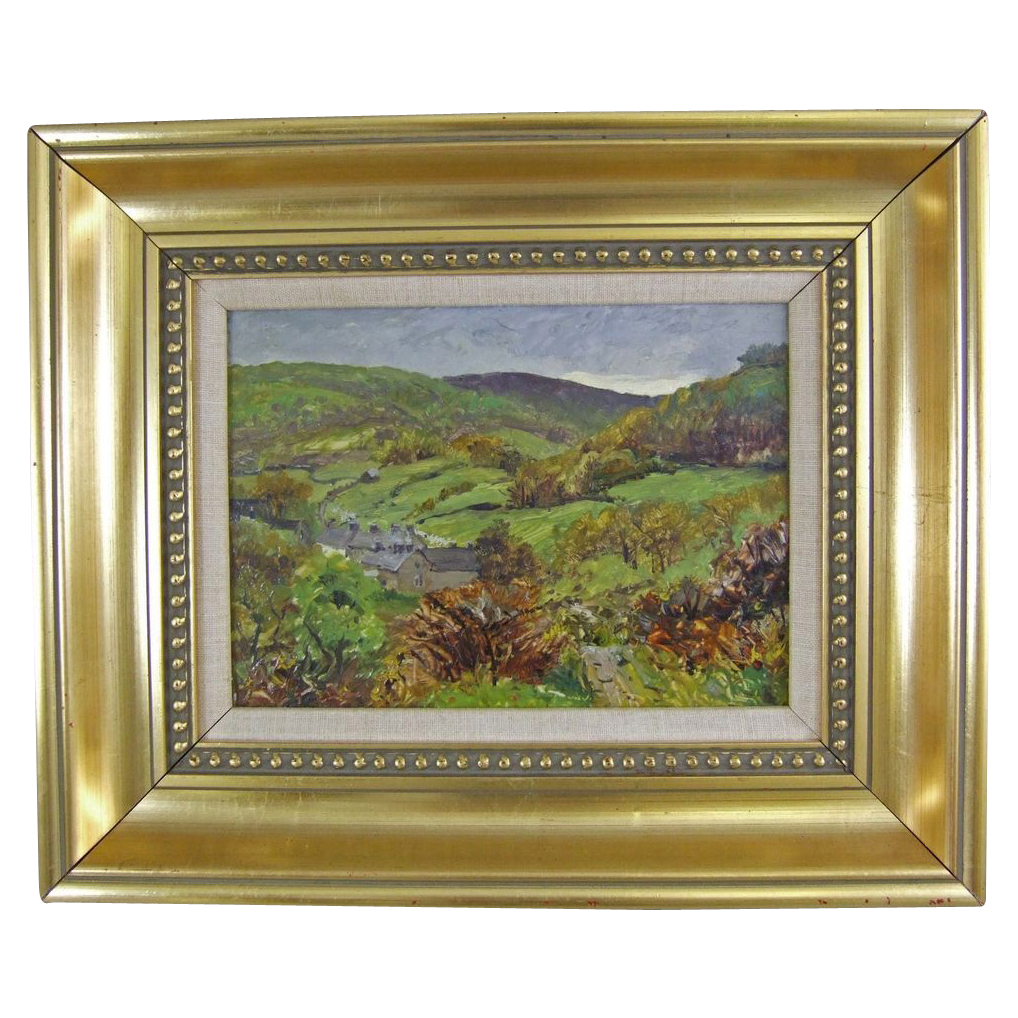 James R. Robinson 1886 – 1963 Impressionist Oil on Board Barmouth Wales