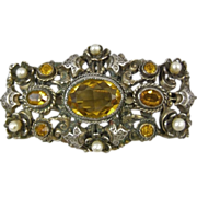 Leo Glass New York Austro-Hungarian Design Brooch