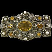 Leo Glass New York Austro-Hungarian Design Brooch