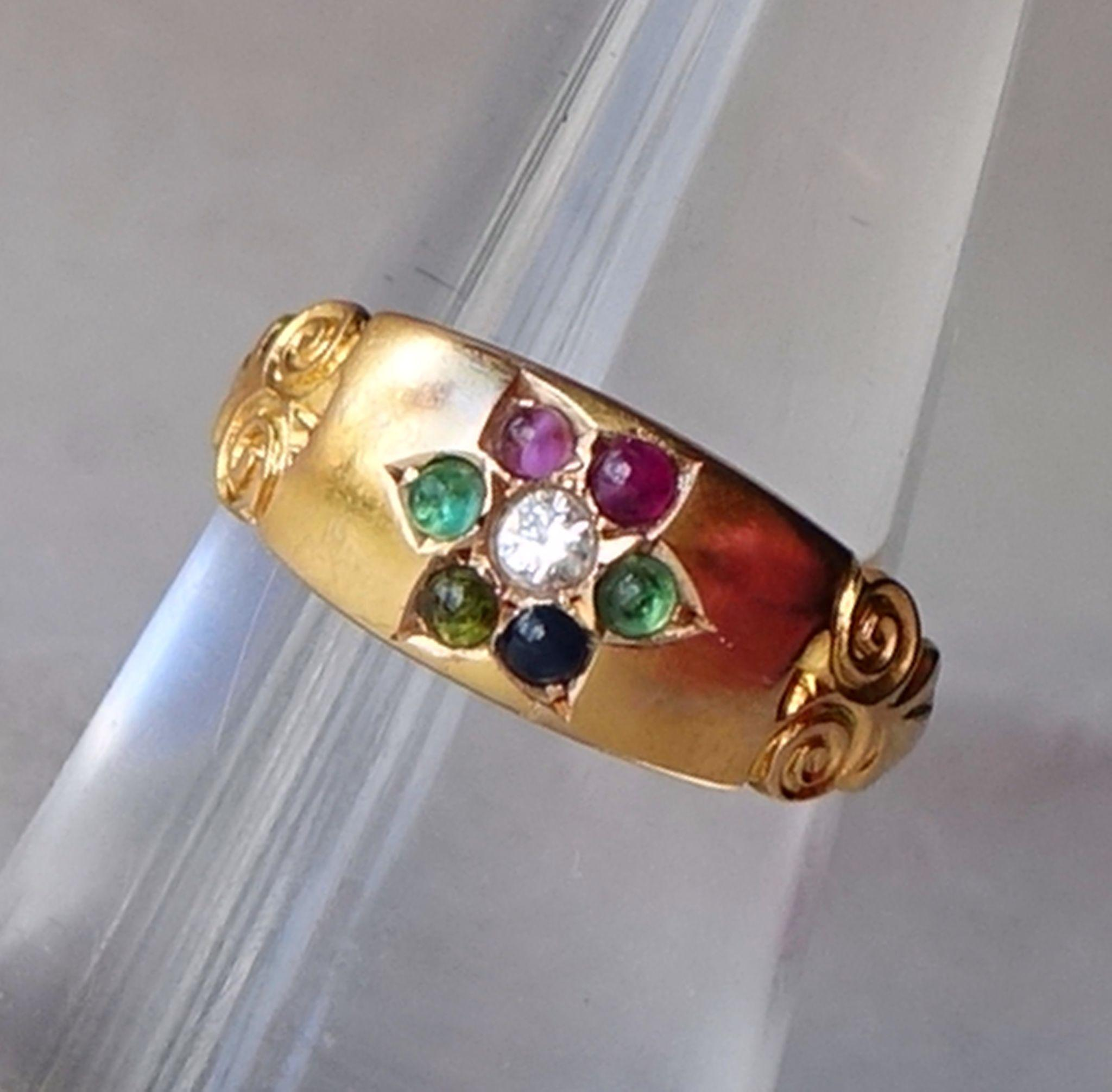 antique 1896 dearest ring 15ct gold chester hallmark from