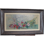 French Impressionistic Modernist Flowers Flower by Pascal 1900-1957 Oil on Board Still Life Bouquet