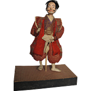 Japanese Man Samurai Warrior Doll 19th Century Edo