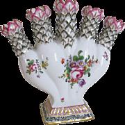 Samson Hard paste Porcelain 5 Stem Bud Vase Antique