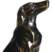 Pair of French Art Deco Dog Bookends Greyhound