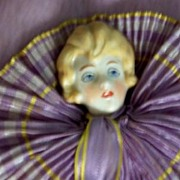 1920/30 Half Doll Handkerchief Case in Original Box