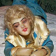 1920 Deco Wax Doll in Silk, All Original