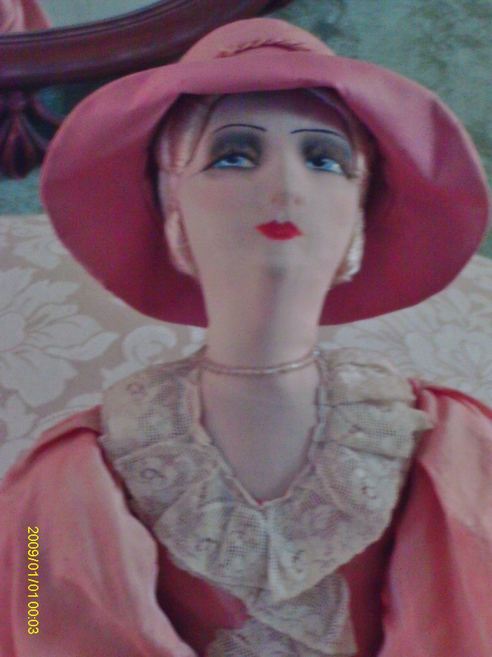 "33"" Vintage French Boudoir Doll, All Original"