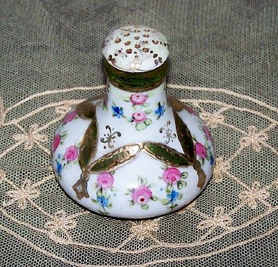 RS Prussia Porcelain Hand Painted Roses Salt Shaker