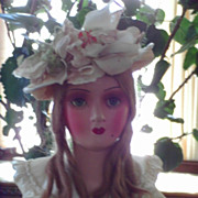 Satin Bridal Boudoir Doll RARE Eyes Close High Color