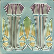 c.1905 MO&PF German Art Nouveau Tile